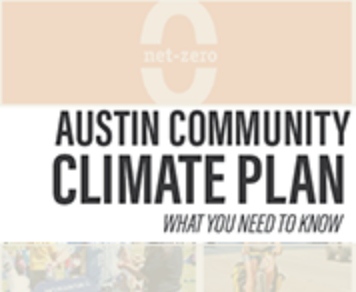 Front cover of Austin Community Climate Plan
