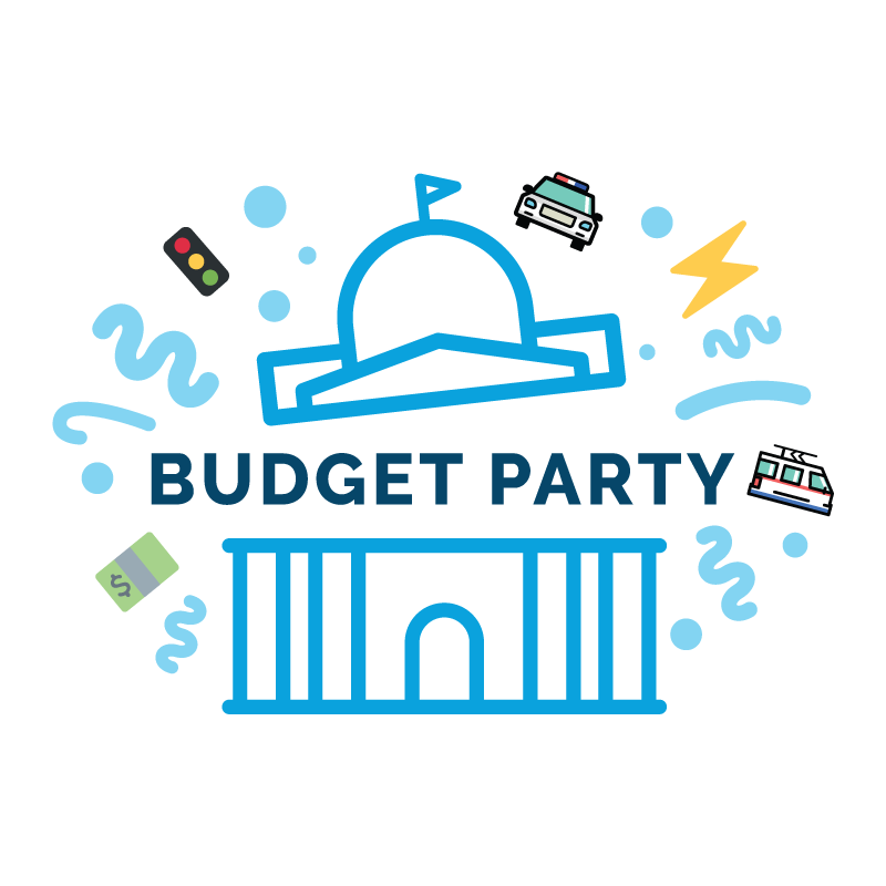 budget party logo