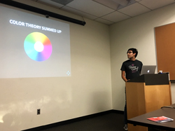 Diego presents on Sass and color theory