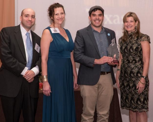 Open Austin presented award from Texas Appleseed